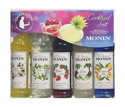 Monin Cocktail Syrup Gift Set 5x5cl Non Alcoholic