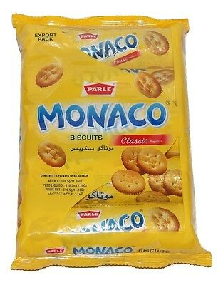 Parle Monaco Biscuits Classic Salt  Biscuits 63gm X 5Pack