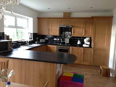 Solid Oak Kitchen Doors,  Units and Section of Worktop