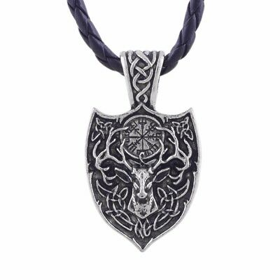 Men Legendary Viking norse large  Deer Nordic Talisman  Amulet pendant Necklace