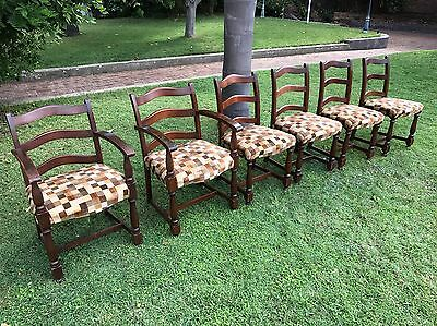 Set Of Six Antique Turned Dining Chairs