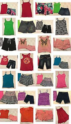 Girls Size 12 Clothing, Shorts, Tops, Justice Clothing, Summer Lot