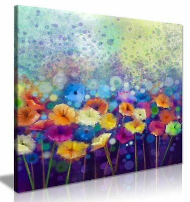 Abstract Floral Flower Watercolor Nature Painting Canvas Wall Art Picture Print