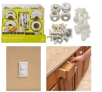 Essentials Safety Kit 46 Piece Baby Proofing Corner Guards Edges Cabinet Latches