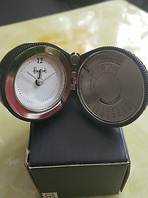 ** HARRODS Travelling Alarm Clock with Fifty Years Calendar ** Harrods of London