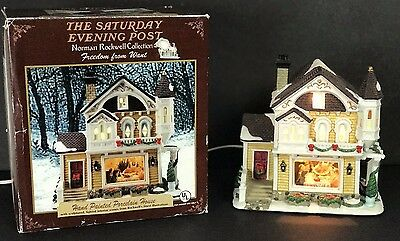 Norman Rockwell Freedom from Want Porcelain Lighted House Saturday Evening Post