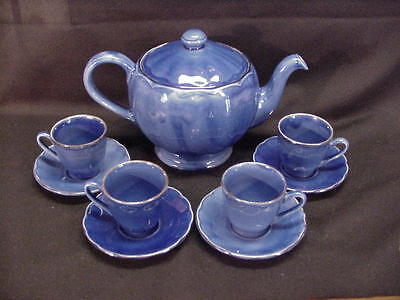 Grindley England Tea Pot With 4 Cups & Saucers - Excellent Condition