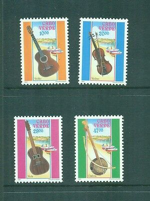 Cape Verde 1991 Musical instruments 5 and 6 string Guitar, Violin, Cimba