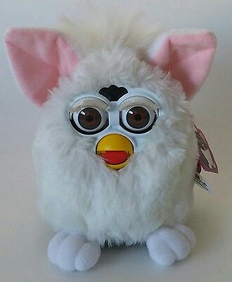 Furby White with Pink Ears Interactive Toy Plush - 1998 Tiger Electronic