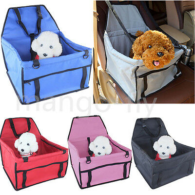Safety Pet Car Seat Belt Cover Oxford Cloth Booster Bag Mat Dog Cat Puppy Travel