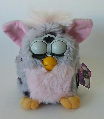 Furby Grey and Pink Interactive Toy Plush - 1998 by Tiger Electronicy
