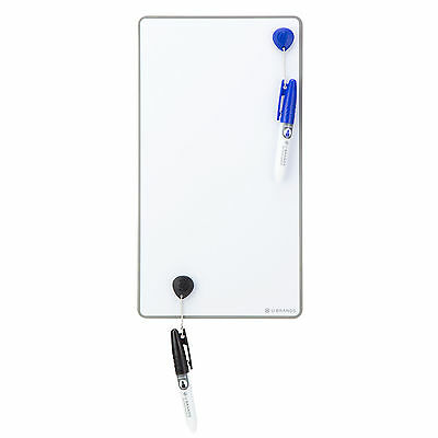ORIGINAL U Brands Magnetic Dry Erase Board, 6 x 11 Inches, Value Pack Washable