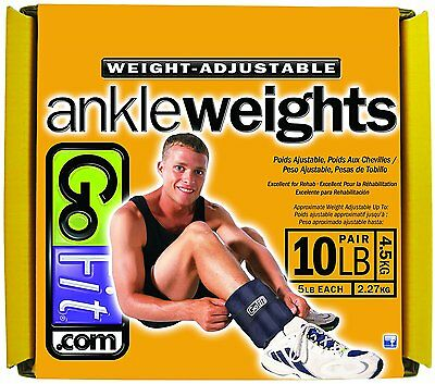 10-Pound Adjustable Ankle Weights by GoFit