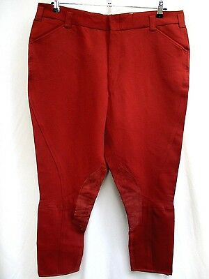 VTG 70'S..MEN'S..EQUESTRIAN..HORSE..RIDING..MAROON..PANTS / BREECHES..NEW..sz 42