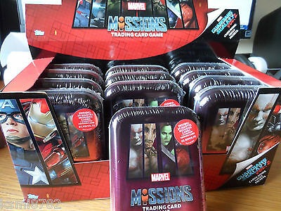 TOPPS MARVEL MISSIONS ATTAX Collector Mini Tins + Limited Edition