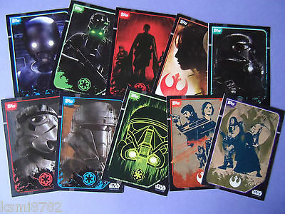 Topps Star Wars Rogue One Sticker Cards 203-212