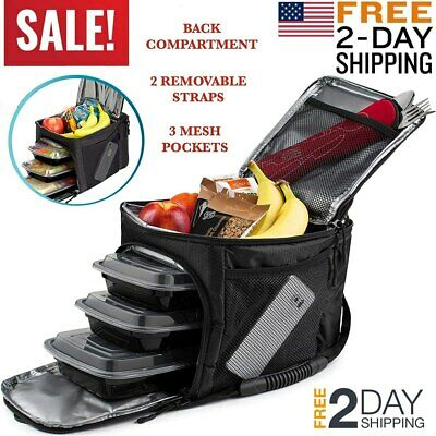 Meal Prep Fitness Bag Insulated Lunch, Management at Work, Gym or Travel