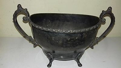 Antique pewter sugar bowl