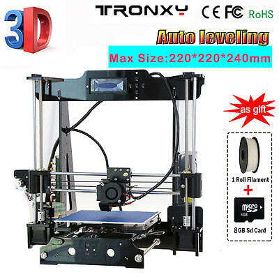 Acrylique Reprap Prusa I3 3D Printer MK8 LCD2004 DIY Self-Assembly Auto Leveling
