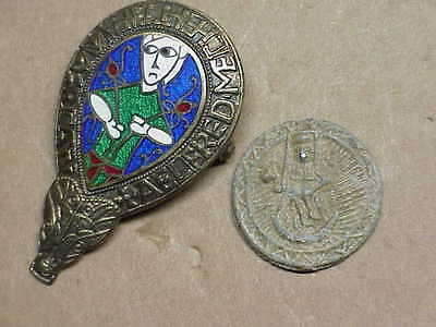 #696 Lot 2 Ancient Byzantine 1000 A.d. Christ Coin & Antique Sterling Silver Chu