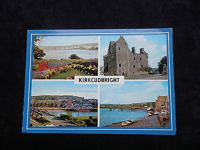 1980s Postcard of Kirkcudbright, View from Stell, Maclellan's Castle, Barrhill