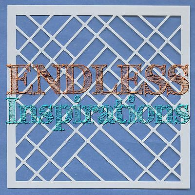 """6/""""x6/""""Endless Inspirations Stencil Free US Shipping Spiral Staircase 2"""