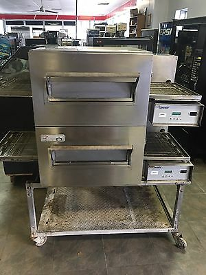 Lincoln Impinger Conveyor Double Stack Pizza Gas Oven 1116