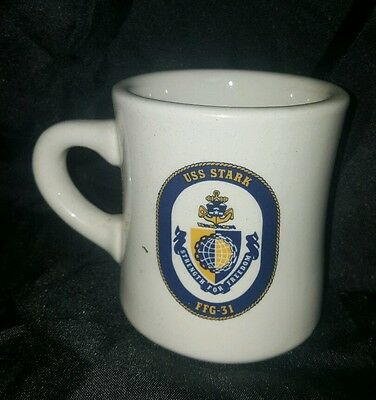 Rare Vtg USS STARK  FFG-31 Coffee Mug CUP Made In USA United States Navy FRIGATE