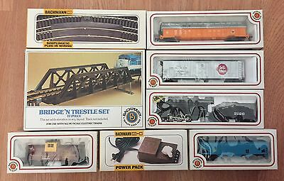 Bachmann HO Train Set New Iron Horse Freight Cars Track Transformer Accessories