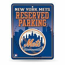 """New York Mets Metal Sign """"Reserved Parking"""" MLB"""