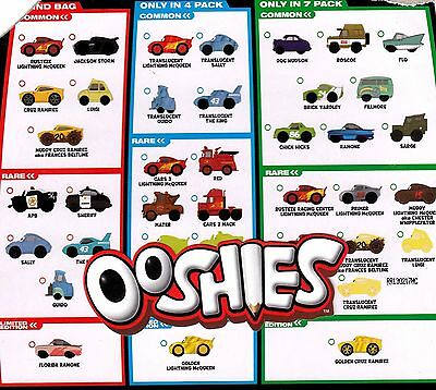 OOshies Disney Pixar Cars 3 Series 1 New  (package opened for confirmation only)