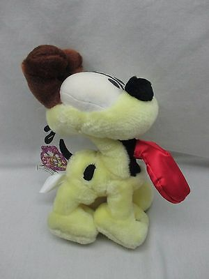 "WITH TAGS Play by Play PAWS GARFIELD 12"" Stuffed Plush ODIE Yellow Sidekick DOG"