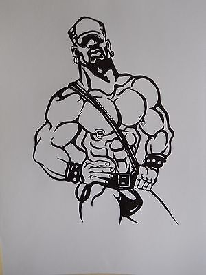 MALE FIGURE DRAWING...gay interest....9 X 12 INCHES