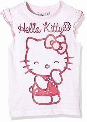 Rosa 10 anni HELLO KITTY CHUCKLE-T-SHIRT BAMBINA (LIGHT PINK) Abbigliamento