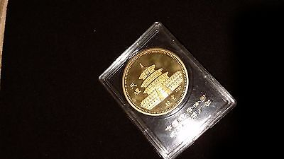Temple Of Heaven 1982 Brass Medal Tiantan Peking China Chinese Olympic Commitee