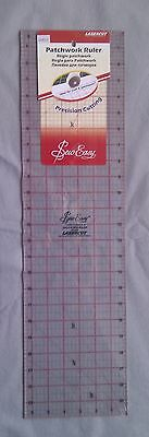 Sew Easy Lasercut Patchwork Ruler 24 in x 6.5 in Imperial