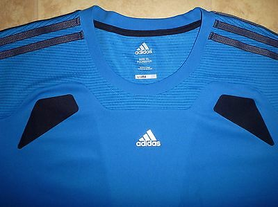 New ADIDAS Climacool XL Mens Tee T Shirt Polyester Blue Running Gym Cross Train