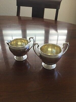 Farmington Sterling Silver Cream And Sugar Set Unweighted Base