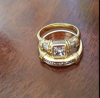 """Solid Gold Jewellers"" Engagement/Wedding Ring Set"