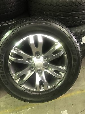 "4x Ford Everest Ranger Genuine 18"" With Bridgestone As New"