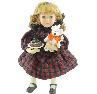 Boyds Bears HOLLY W/HOLIDAY Yesterday's Child Collection Christmas DOLL MINT!