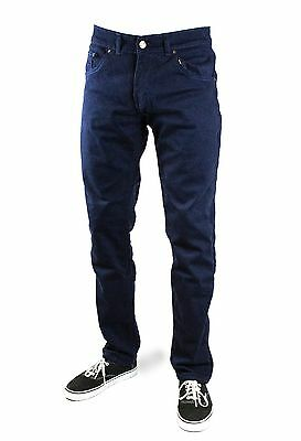 Mens Public Enemy®  Slim Fit Motorcycle Riding Chin0 Jeans - Navy Blue