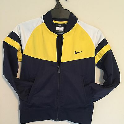 KId's NIKE size 6 Warm-up jacket Navy Blue and Yellow