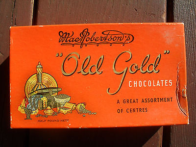 Collectable & Vintage Chocolate Box: Macrobertson's Old Gold Chocolates.
