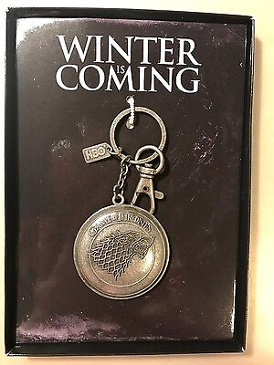 NEW - HBO GAME OF THRONES Stark Crest Key Chain / Key Ring - Best Buy Preorder