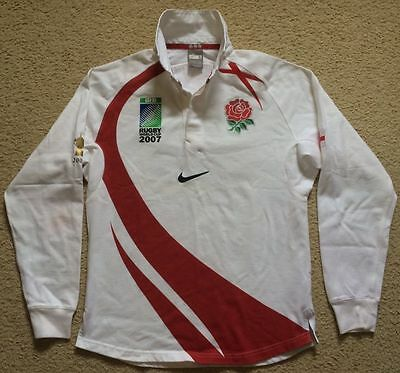 England Rugby Union IRB World Cup 2007 Jersey - Nike - Mens S - Cotton