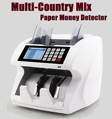 Multinational Currency Cash Currency Value Count Counter Fake Detection Machine