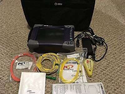 JDSU MTS-6000A Handheld SM MM Optical OTDR Tester w/ 8156 SRL Module & VFL, PM