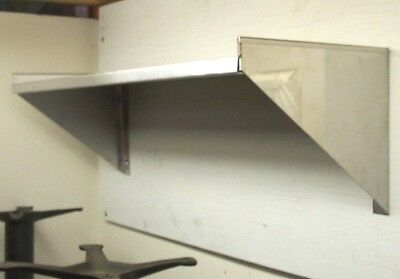 "12"" x 60"" Stainless Steel Wall Shelf"