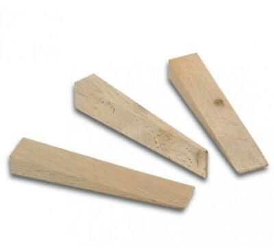 50 x Bohle Hardwood Wooden Wedges 100 x 20 x 2/15mm Wedging/Glazing/Packers